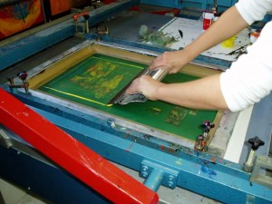t-shirt screen printing garments